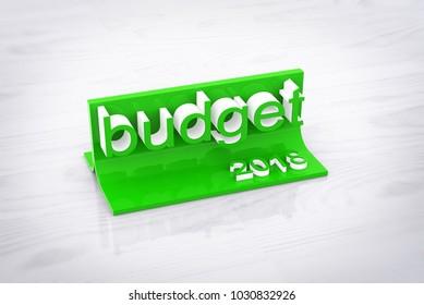 Budget 2018. 3d Illustration