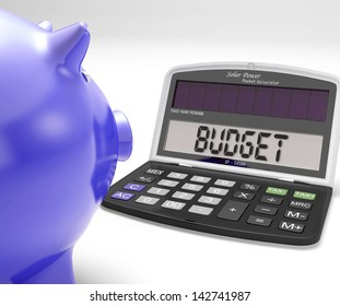 Budget Calculator Showing Spending And Costs Management