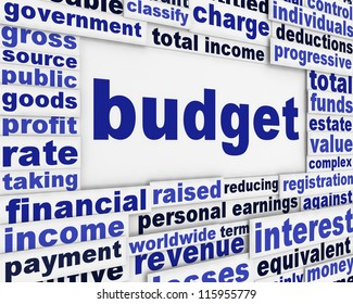 Budget financial poster concept. Business plan message background