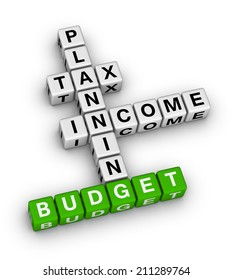 budget planning cubes crossword puzzle
