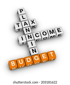 budget planning (orange-white crossword series)