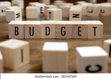 budget word written on wood block