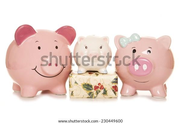 budgeting for christmas piggy banks cutout