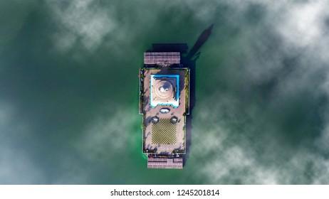 Budha aerial shot hyderbad tankbund