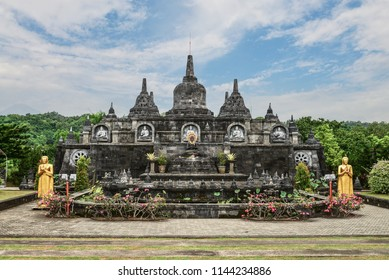 "Budhist temple Brahma Vihara-Arama Banjar in Lovina, Indonesia, Bali, it""s a small version of Borobudur temple on Java."