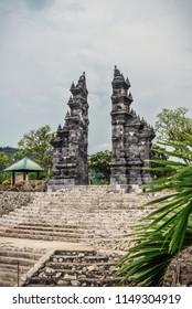 """Budhist temple Brahma Vihara-Arama Banjar in Lovina, Indonesia, Bali, it""""s a small version of Borobudur temple on Java."""