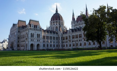 Budpest / Hungary - 07/12/2018: Hungarian Parliament Building on a sunny day