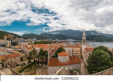 Budva, Montenegro. Ancient city best preserved medieval cities in the Adriatic Sea, Dalmatia.