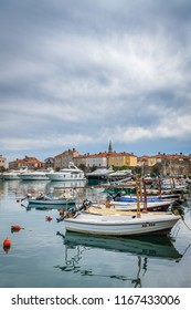 Budva, Montenegro - April 2018 : Yachts and boats moored in the port in Budva town