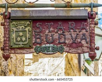"BUDVA, MONTENEGRO - AUGUST 2, 2015 - View of the ""Stara Budva"" (Old Budva)."