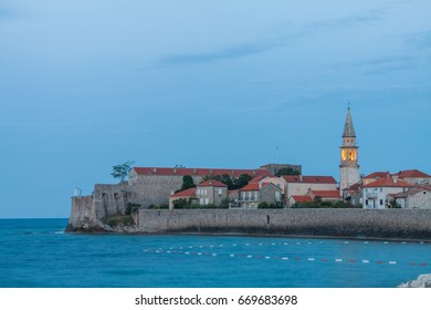 Budva old town in early morning