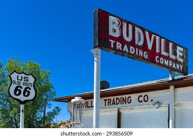 Budville, U.S.A. - May 23 2011: New Mexico, a service station signs on the Route 66