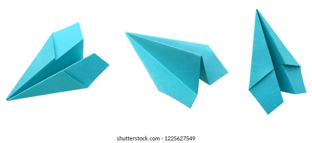 Bue Paper Airplane