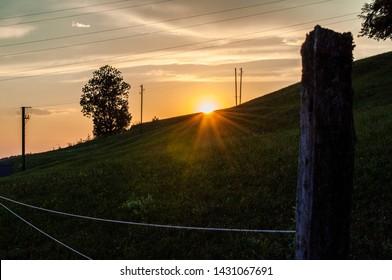 Bueatiful Sunset in Schönenwerd, Switzerland