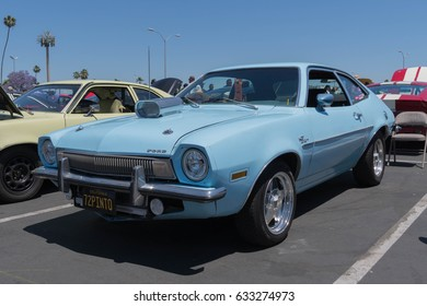 Buena Park, USA - April 30, 2017: Ford Pinto on display during the Fabulous Fords Forever
