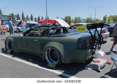 Buena Park, USA - April 30, 2017: Ford Mustang GT convertible fifth generation on display during the Fabulous Fords Forever