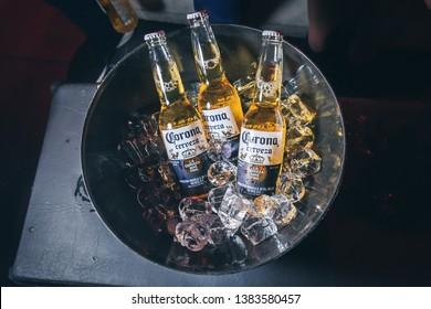 drunk man corona beer