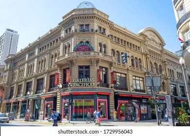 Buenos Aires, Argentina, 03/02/2020, Galleria Pacifico.  Galeria Pacifico is a shopping center located on the corner of Florida and Avenida Cordova streets. This is one of the most important buildings