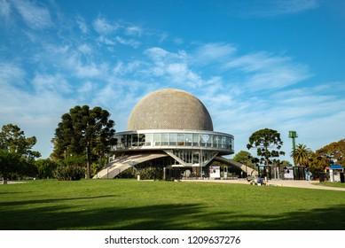 Buenos Aires, Argentina - 05 Octubre, 2018: Planetarium in the park Palermo in Argentina