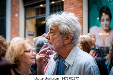 Buenos Aires, Argentina - 10/29/2018: Actor Arturo Bonin at ECA (encounter of science and art), an event against the government policies of Macri