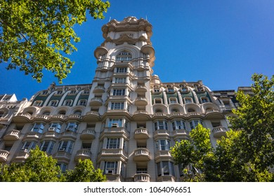 Buenos Aires, Argentina - 12/20/2017: The distinctive Palacio Barolo, whose design is based on the Divine Comedy book, in Buenos Aires (Argentina).