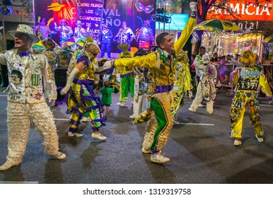Buenos Aires, Argentina - 16 February 2019: Participants at the carnival in Buenos Aires Argentina