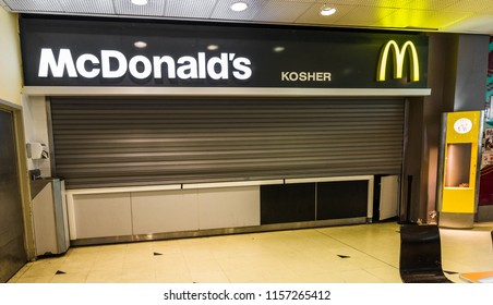Buenos Aires, Argentina - April 02, 2018: Kosher McDonalds in Abasto shopping mall, the only Kosher McDonald's outside of Israel