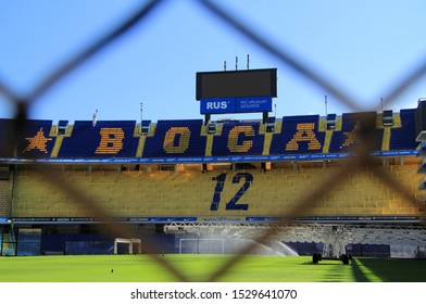 BUENOS AIRES, ARGENTINA – APRIL 20: La Bombonera stadium hosts the world renowned Boca Juniors soccer team and represents the heart of La Boca in Buenos Aires April 20, 2019 in Buenos Aires, Argentina