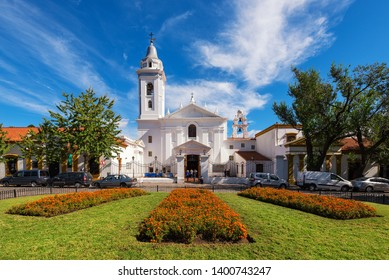 BUENOS AIRES, ARGENTINA - APRIL 4, 2019: Recoleta Nuestra Senora del Pilar Church in Buenos Aires, Argentina. Was built as part of the Franciscan monastery, completed in 1732.