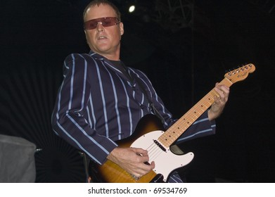 BUENOS AIRES, ARGENTINA - APRIL 4: Lead guitar player Keith Strickland of The B52's perform onstage at Luna Park Stadium April 4, 2009 in Buenos Aires, Argentina.