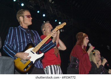 BUENOS AIRES, ARGENTINA - APRIL 4: The B52's perform onstage at Luna Park Stadium April 4, 2009 in Buenos Aires, Argentina.