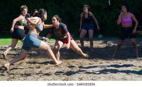 Buenos Aires, Argentina august 15 of 2019 women's rugby training in the arena