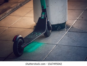 Buenos Aires, Argentina - August 3rd 2019: Electric scooter in Buenos Aires