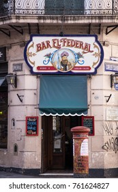 Buenos Aires, Argentina, - August 8 2017: old cafe in San Telmo, historical neighborhood of Buenos Aires