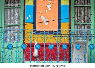 Buenos Aires Argentina barrio la boca painted house