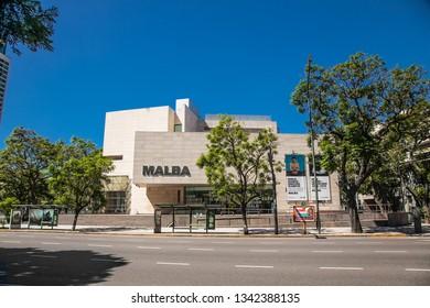 Buenos Aires Argentina - Dec 25, 2018: Malba (Museo de Arte Latinoamericano de Buenos Aires) Museum in the city of Buenos Aires. Argentina.