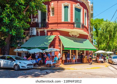 BUENOS AIRES, ARGENTINA - DECEMBER 25, 2017: View of the building of a cafe in the center of the city