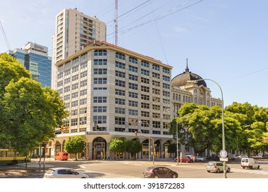 BUENOS AIRES, ARGENTINA - FEB 15, 2014: Old architecture of the Puerto Madero. Port is named afret Eduardo Madero who was in charge of the construction of the port in 1882