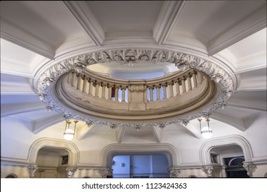 Buenos Aires, Argentina - Feb 9, 2018: Detail of Palacio Barolo (Barolo Palace) - Buenos Aires, Argentina