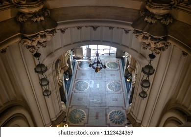 Buenos Aires, Argentina - Feb 9, 2018: Entrance Hall inspired in Hell of Palacio Barolo (Barolo Palace) - Buenos Aires, Argentina