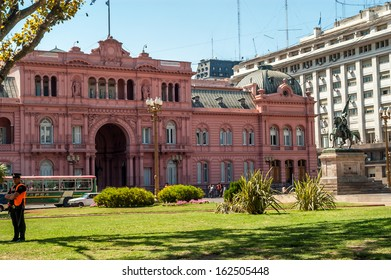 BUENOS AIRES, ARGENTINA - FEBRUARY 16,2006 - Casa Rosada - Pink House in Buenos Aires.In this house lived Eva Peron and her husband.