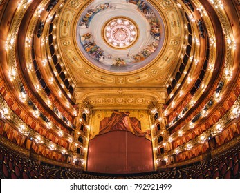 Buenos Aires, Argentina - January 11, 2018: Teatro Colon (Colon Theater), in Buenos Aires, Argentina, considered one of the world's best opera houses.