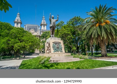 Buenos Aires, Argentina - January 19th 2019, Statue of Juan Domingo Peron, the famous president and husband of Evita Peron