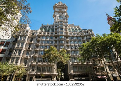 Buenos Aires, Argentina – January 2-8, 2018: Palacio Barolo is a landmark office building, in the neighborhood of Monserrat, Buenos Aires. Palacio Barolo was once South America's tallest building.