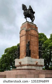 Buenos Aires, Argentina – January 2-8, 2018: Monument to General Alvear located on Plaza Julio de Caro, a landmark in the Recoleta neighborhood of Buenos Aires.