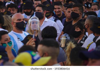 """Buenos Aires, Argentina, March 10, 2021. Verónica Ojeda at the """"Justice for Diego"""" march."""