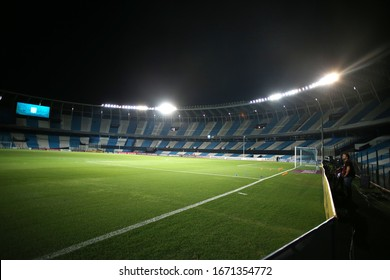 Buenos Aires, Argentina - March 11, 2020: Rcong Club Juan domingo Peron empty stadium view because of the coronavirus in Buenos Aires, Argentina