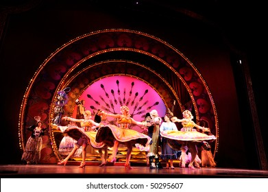 BUENOS AIRES, ARGENTINA - MARCH 26: Opening of Disney Musical The Beauty and the Beast in Opera Theater on March 26, 2010 in Buenos Aires, Argentina