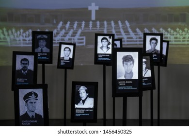 BUENOS AIRES, ARGENTINA - March 28, 2019 - The memorial to the Argentine soldiers who died during the Falklands War at the Malvinas Museum.