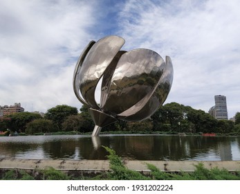 BUENOS AIRES, ARGENTINA - MARCH 6, 2020: Floralis Generica structure